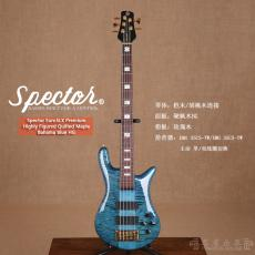 Spector Euro5LX Premium Highly Figured Quilted Maple Bahama Blue HG