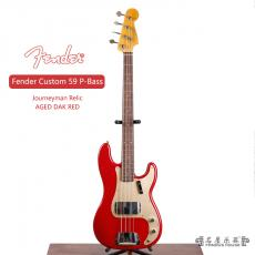 Fender Custom 59 P-Bass Journeyman Relic AGED DAK RED
