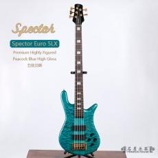 Spector Euro 5LX Premium Highly Figured Peacock Blue High Gloss
